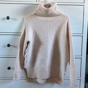 Sweet Romeo Light Pink Turtleneck Sweater